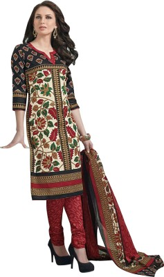 Aarvi Cotton Linen Blend Printed Dress/Top Material