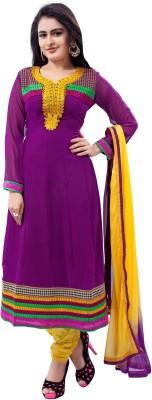 Stella Creation Crepe Printed Semi-stitched Salwar Suit Dupatta Material