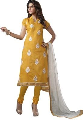 Akshaya Fashons Chanderi Embroidered Salwar Suit Dupatta Material