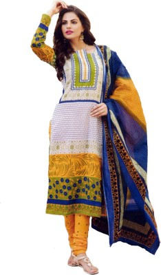 Yadnika Cotton Self Design Salwar Suit Dupatta Material(Un-stitched)