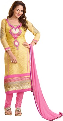 Melluha Fashion Cotton Embroidered Salwar Suit Dupatta Material