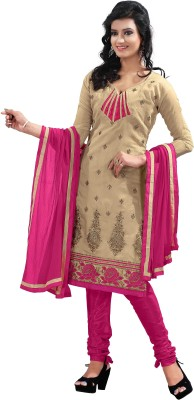 Blissta Chanderi Embroidered Dress/Top Material