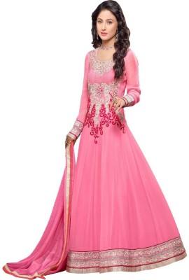 Javuli Brocade, Art Silk, Organza Embroidered Salwar Suit Dupatta Material