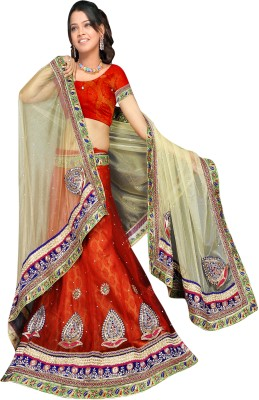Sonica Net Self Design Semi-stitched Lehenga Choli Material