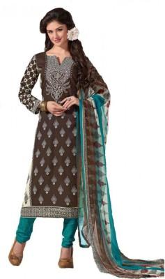 Shri Fashions Jasmine Cotton Polyester Blend Floral Print Salwar Suit Dupatta Material