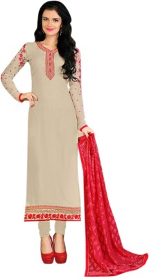 Meet Enterprise Georgette Embroidered Semi-stitched Salwar Suit Dupatta Material