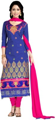 Trendz Apparels Cotton Embroidered Salwar Suit Dupatta Material