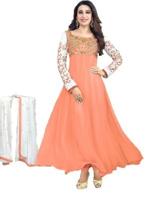 SAMAYCREATIONSTORE Georgette Embroidered Salwar Suit Dupatta Material