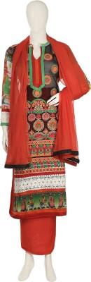 Aroras Fashion Net, Georgette Embroidered Semi-stitched Salwar Suit Dupatta Material