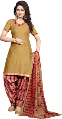 anjel pari Fashion Cotton Embroidered Semi-stitched Salwar Suit Dupatta Material