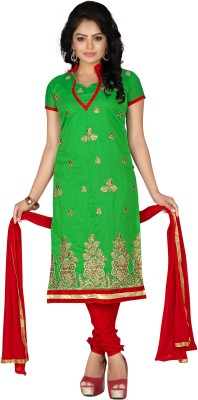 Shree Vardhman Chanderi Embroidered Salwar Suit Dupatta Material