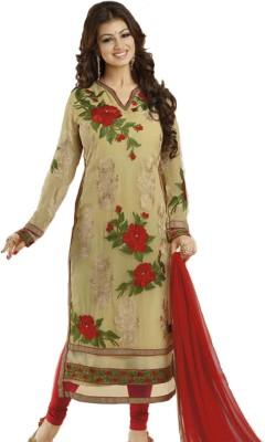 Elevate Women Georgette Embroidered Semi-stitched Salwar Suit Dupatta Material