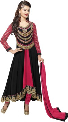 SMARTLOOK Georgette Embroidered Semi-stitched Salwar Suit Dupatta Material