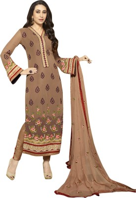 Patiala House Georgette Embroidered Semi-stitched Salwar Suit Material