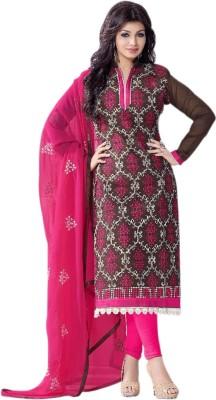 Li Te Ra Chanderi Embroidered Salwar Suit Material