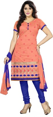 Khushali Chanderi Self Design, Embellished, Embroidered Salwar Suit Dupatta Material