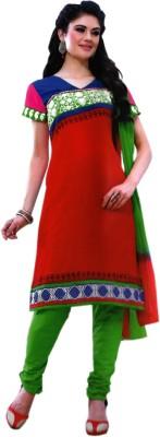 Tarang Cotton Embroidered Semi-stitched Salwar Suit Dupatta Material