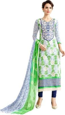 RJ Chanderi Embroidered Salwar Suit Dupatta Material