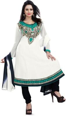Sarees House Georgette Embellished Salwar Suit Dupatta Material