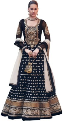 Harikrishna Fashion Georgette Embroidered Dress/Top Material