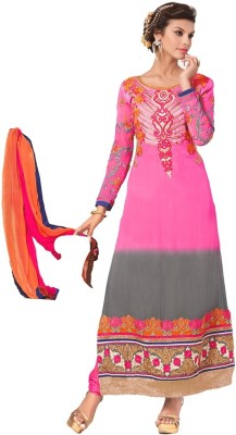 Chandramoulifashion Georgette Embroidered Salwar Suit Dupatta Material