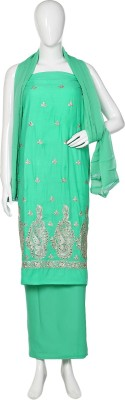 DWM Cotton Embroidered Salwar Suit Dupatta Material