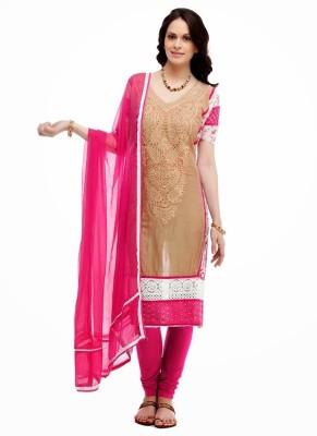 Saugat Cotton Polyester Blend Embroidered Salwar Suit Dupatta Material