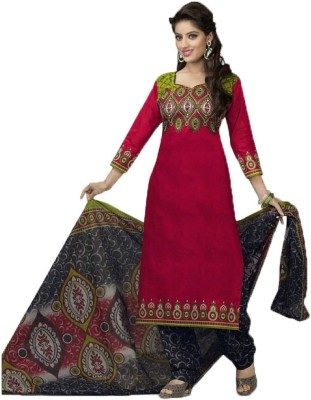 Diyastyle Cotton Printed Salwar Suit Dupatta Material