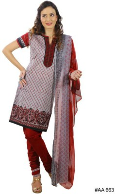 CultureStitch Cotton Silk Blend Embroidered Salwar Suit Dupatta Material