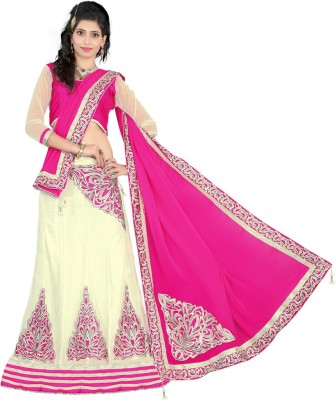 Fashion Dream Net Embroidered Semi-stitched Lehenga Choli Material