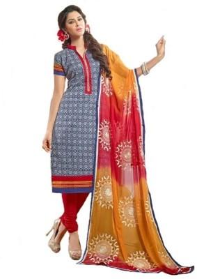 Lotus Valley Chanderi Embroidered Salwar Suit Dupatta Material