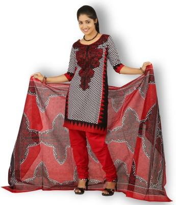 Fashion Valley Cotton Self Design Salwar Suit Dupatta Material, Kurta & Churidar Material