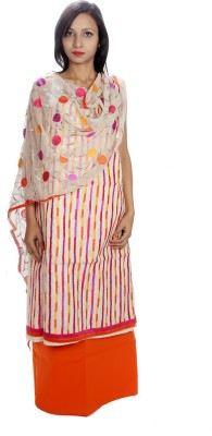 Estelo Cotton Embroidered Salwar Suit Dupatta Material
