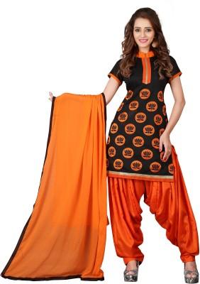BanoRani Chanderi Embroidered Salwar Suit Dupatta Material