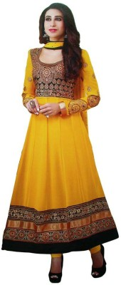 Cute N Classy Georgette Embroidered Semi-stitched Salwar Suit Dupatta Material