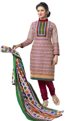 Barbarik Cotton Self Design Salwar Suit Dupatta Material