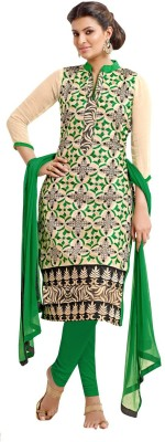 Sunrise International Net Embroidered Semi-stitched Salwar Suit Dupatta Material