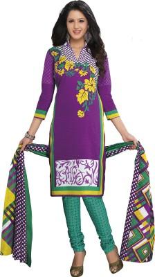 Tripssy Cotton Floral Print Salwar Suit Dupatta Material