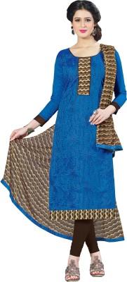 Jiya Chanderi Self Design, Embroidered Salwar Suit Dupatta Material