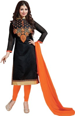 Fabcart Cotton Embroidered Salwar Suit Dupatta Material