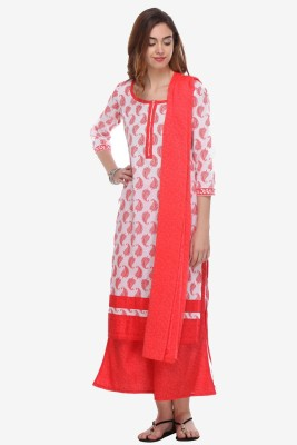 We Desi Cotton Printed Salwar Suit Dupatta Material
