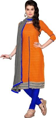 Khushali Chanderi, Cotton Self Design, Embroidered Salwar Suit Dupatta Material