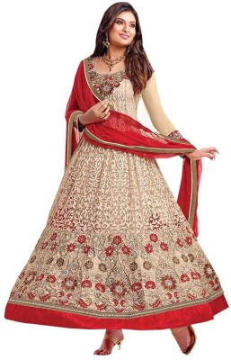 Aarna's Collection Georgette Embroidered Semi-stitched Salwar Suit Dupatta Material