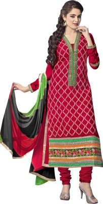 Vibes Brasso Self Design Salwar Suit Dupatta Material