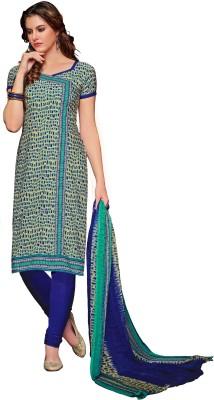 Shopeezo Crepe Printed Salwar Suit Dupatta Material