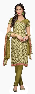 Shopeezo Crepe Floral Print Salwar Suit Dupatta Material
