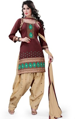 Style Mania Cotton Embroidered Salwar Suit Material