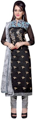Paroma Art Chanderi, Cotton Embroidered Salwar Suit Dupatta Material