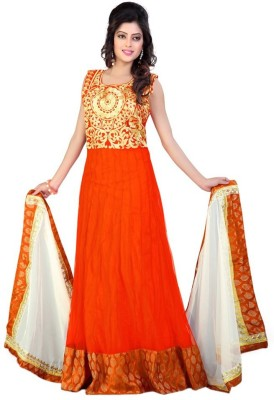 PRIYANSHU CREATION Net Embroidered Salwar Suit Dupatta Material