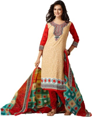 Trends,,cart Cotton Printed Salwar Suit Dupatta Material